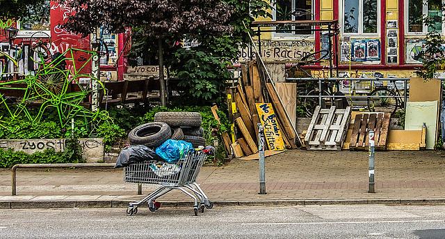 Einkaufswagen mit Winterreifen ;-)