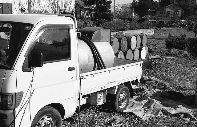 Mini truck for kerosene delivery