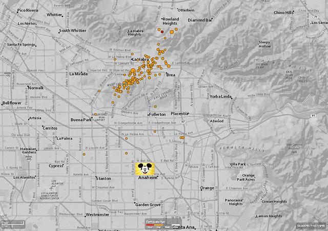 Revised La Habra Quake Map