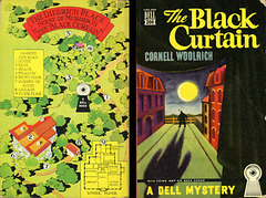 Dell Books 208 - Cornell Woolrich - The Black Curtain (with mapback)