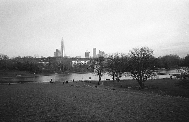 City from Burgess Park.