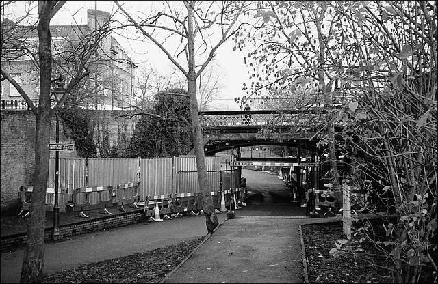 Bridge, Surrey Canal  path. Peckham, London SE.