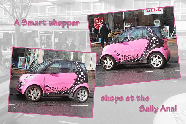 A Smart shopper at the 'Sally Ann' - Eastbourne - 11.2.2014