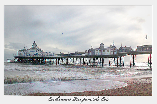 Eastbourne Pier - east side - 11.2.2014