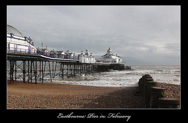 Eastbourne Pier - west side - 11.2.2014