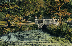 Lily Pond and Memorial Bridge, Public Gardens, Halifax, N.S.