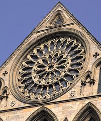 "York Minster's ""Rose"" window.."
