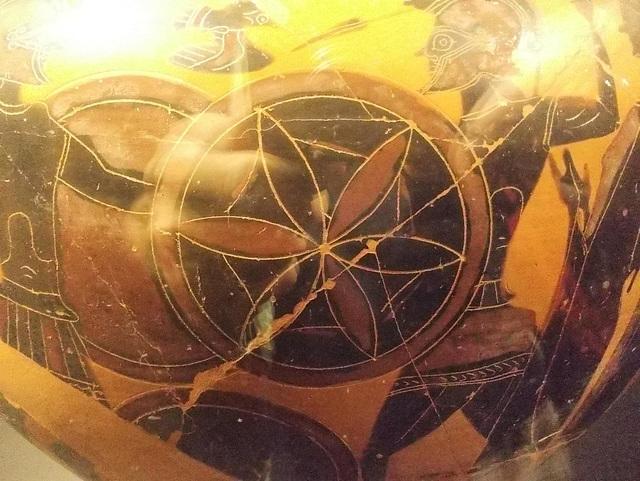 Etruskų vaza. Kovos scena.