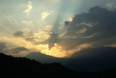 Sonnenaufgang über dem Monte Baldo.  ©UdoSm
