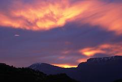 Lichtspiele über dem Monte Baldo.  ©UdoSm