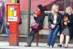 Street candid 08032014 - Waterloo, at the bus stop