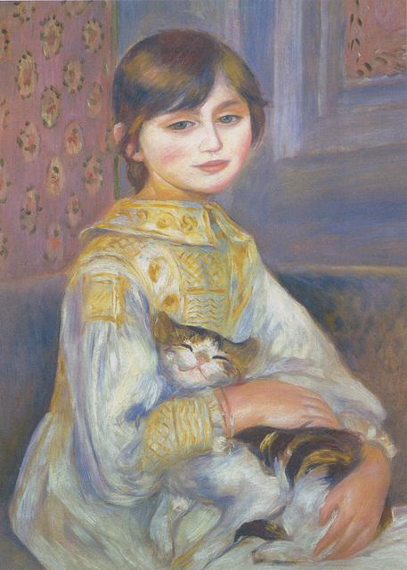 Julie Manet et son chat