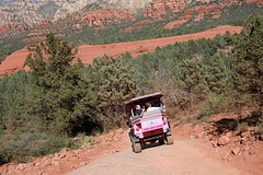 0501 152944 Pink Jeep in Coconino National Forest