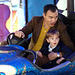 Dexter and Daddy on the Dodgems