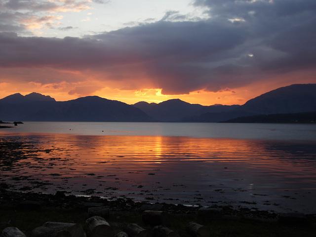 Sundown at Ballachulish