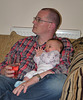 Three Month Old Robyn with Uncle Tim