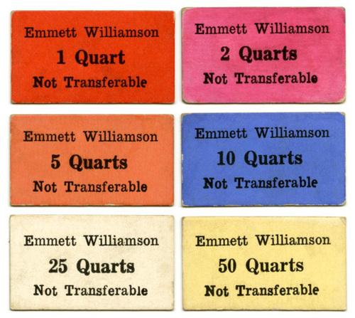Emmett Williamson Pickers' Chits