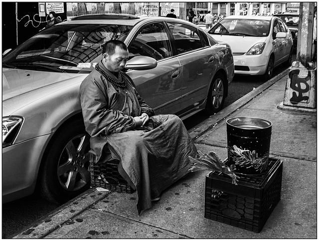 Street meditation.