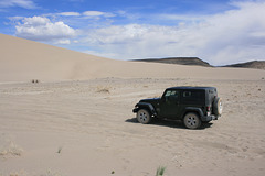 The Jeep at Crescent Dunes