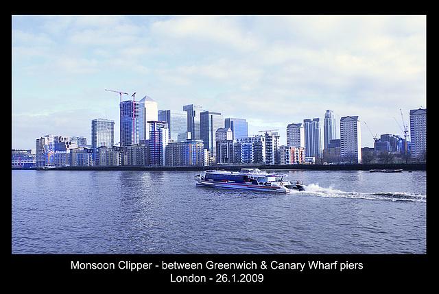 Monsoon Clipper - Thames - London - 26.1.2009