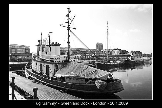 Tug Sammy - Greenland Dock - 26.1.2009