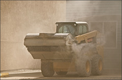 Sand and gravel removal from the streets.