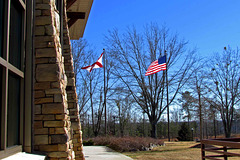 Lodge and Flags