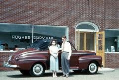 Newlyweds at the Hughes Dairy Bar, Tioga, Pa., 1949