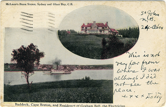 Baddeck, Cape Breton, and Residence of Graham Bell, the Electrician