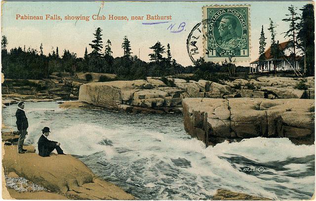 Pabineau Falls, showing Club House, near Bathurst