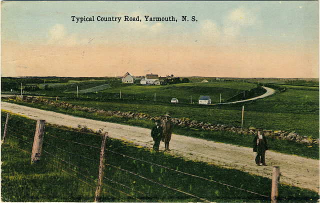 Typical Country Road, Yarmouth, N.S.