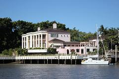 Pink Riverside Mansion