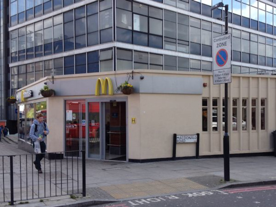 Macdonald Road (literally)