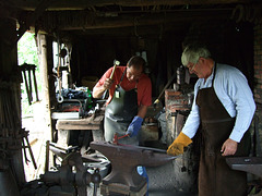 At work at the anvil - Weald and Downland Museum