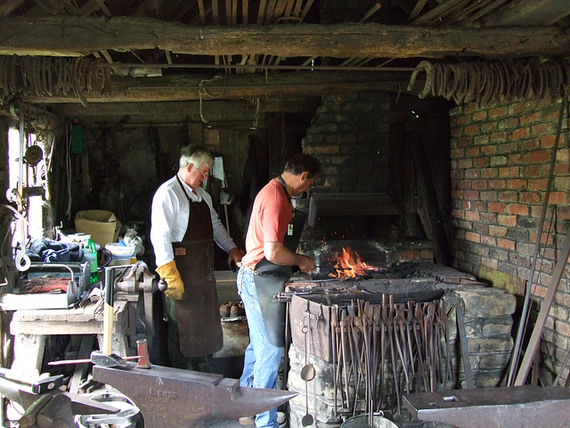 At work at the forge - Weald and Downland Museum