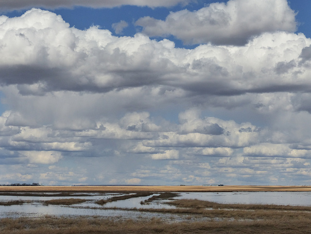 Clouds over Frank Lake