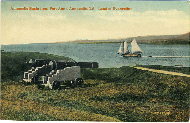 Annapolis Basin from Fort Anne, Annapolis, N.S. Land of Evangeline
