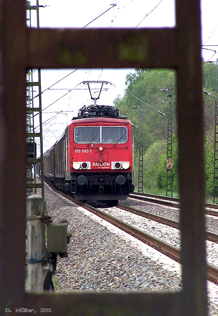 BR 155 der DB in der Nähe von Celle