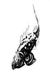 Native Art on White - Salmon