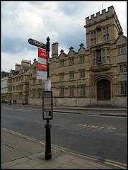 quaint old Oxford bus stop