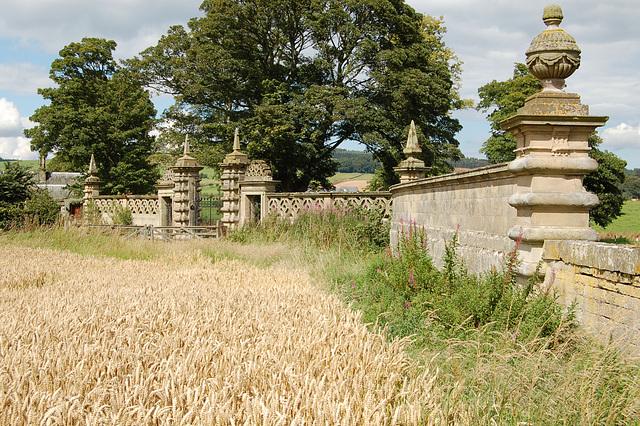 Gates to the demolished Langton House, Berwickshire, Borders (Demolished)