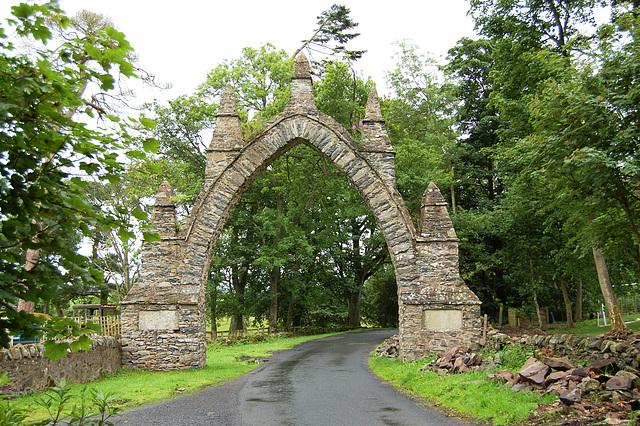 Gateway to the demolished Spottiswoode House, Borders, Scotland