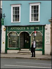 antique bus stop