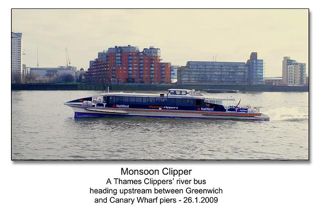 Monsoon Clipper - Thames -London - 26.1.2009