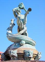 Kentaŭro en batalo kontraŭ drako