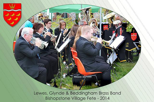 Lewes Glynde & Beddingham Brass Band - Bishopstone Village Fete - 3.5.2014