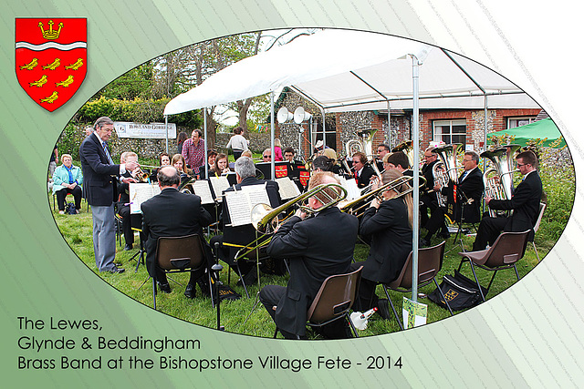 Lewes Glynde & Beddingham Brass Band - Bishopstone Village Fete - 3.5.2014