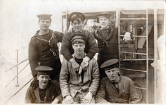 Young Crew Members of the Destroyer HMS Wallace Spring 1919