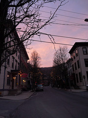 dusk over Jim Thorpe