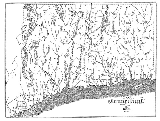 Bowen Indian-Map-of-Connecticut-in-1630